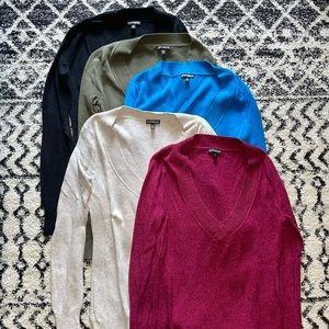 Express V Neck Sweater bundle!